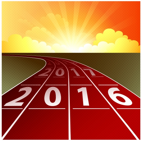 2017 new year template design with runway