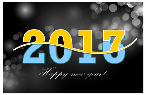 2017 template design with bokeh background