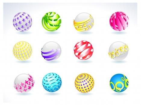 3d balls set