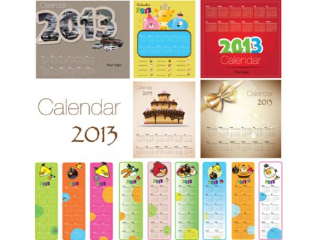 5 creative calendars 2013 + 9 angry bird calendars 2013 (15) calendars Uses several