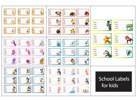 60 school labels for kids set 2 vectors stock in format for free download. Black Bedroom Furniture Sets. Home Design Ideas