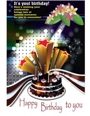 a4 birthday card design