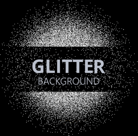 abstract background black white glittering design circle layout