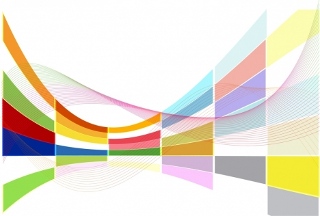 abstract background colorful 3d swirled rectangulars decoration