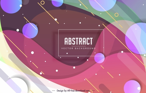 abstract background colorful modern design flat circles ornament