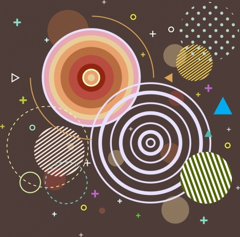 abstract background geometric design circles triangles decor