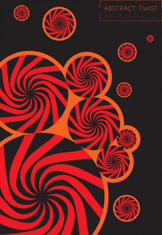 abstract background red twist circles decoration