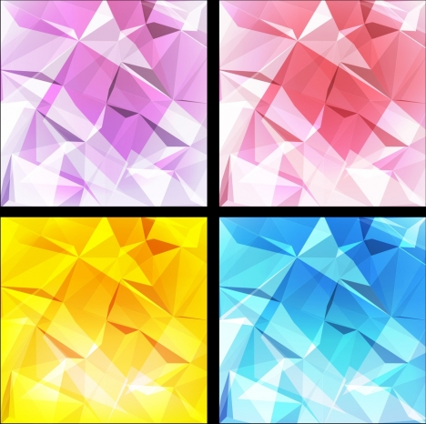 abstract background sets 3d cubic shiny colored decoration