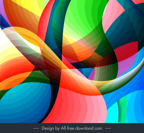 abstract background template colorful dynamic illusion decor