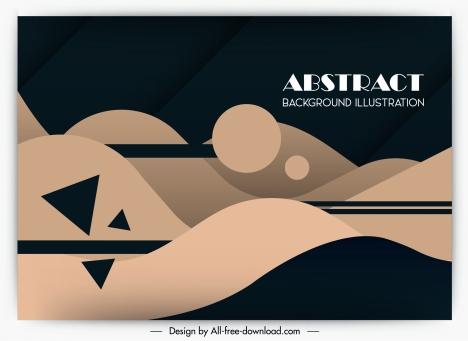 abstract background template dark flat geometric decor
