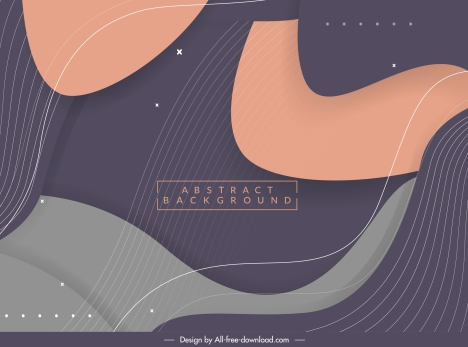 abstract background template dynamic swirled lines decor