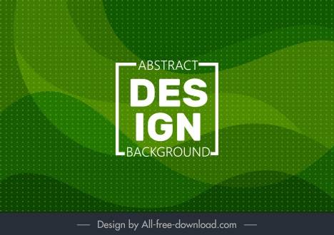 abstract background template spots decor green waving lines