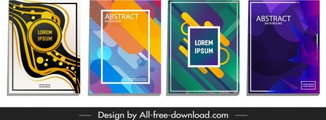 abstract background templates colorful dynamic geometric decor