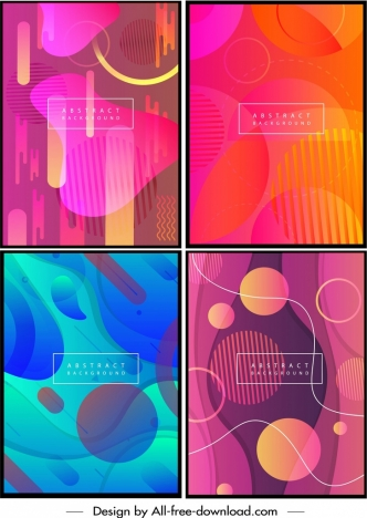 abstract background templates colorful geometric motion decor