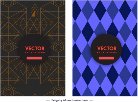 abstract background templates dark colored classical geometric decor