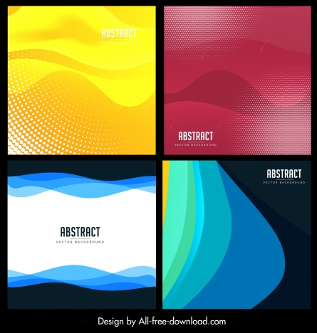 abstract background templates modern colored curves decor