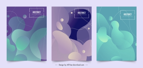 abstract background templates modern colored deformity shapes decor