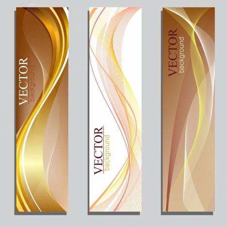 abstract background templates modern design colored curves ornament
