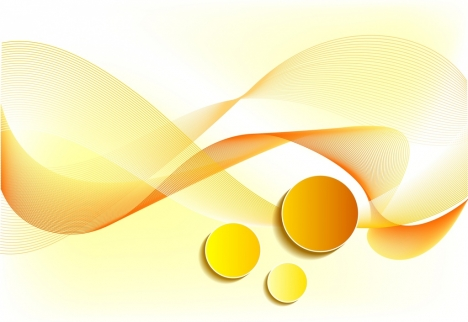abstract background yellow design curved lines circles decor
