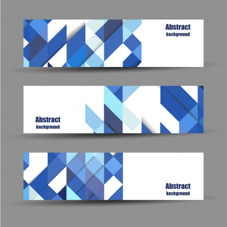 abstract banners design sets