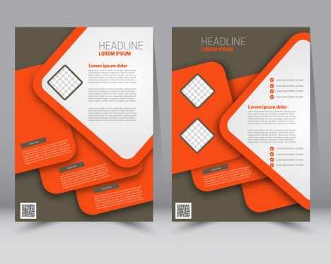 abstract brochure background with colored geometric design
