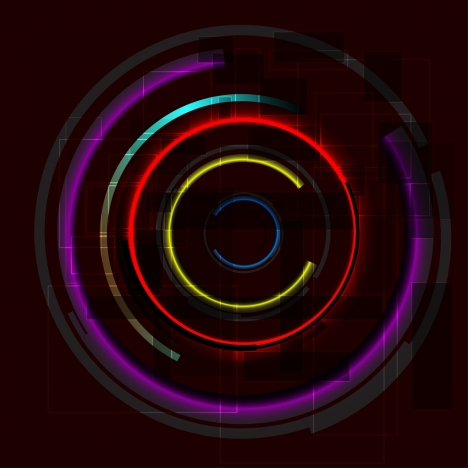 abstract circles background colorful neon light design