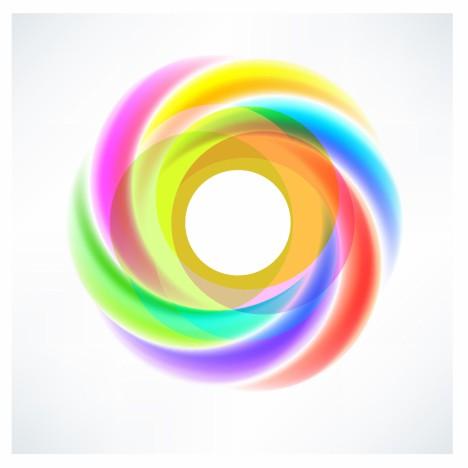 Abstract Circular Swirl Logo Design Element