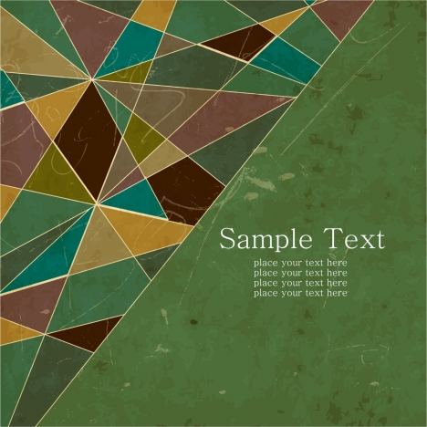 abstract colorful triangles texture with retro style
