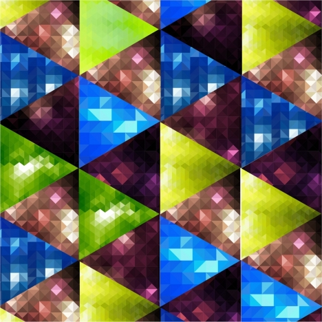 abstract geometric background colorful triangles bokeh style