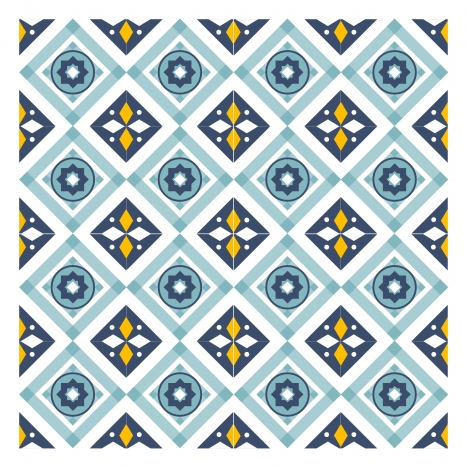 Abstract geometric pattern design with repeating style vectors stock