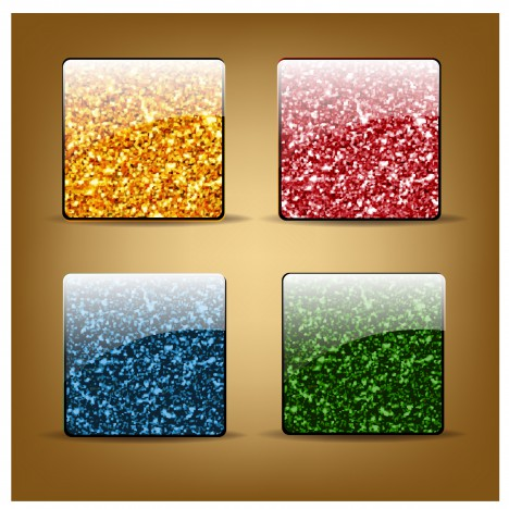 abstract glossy square button