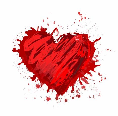 Abstract grunge heart shape