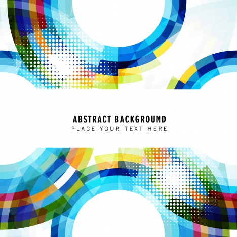 abstract half circle background