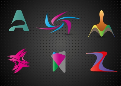 abstract letters logo design elements with modern style