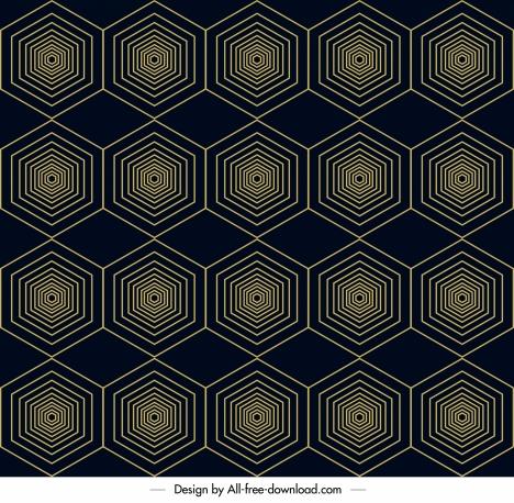 abstract pattern template symmetric geometrical polygonal illusion