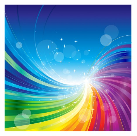 Abstract Rainbow Colors Wave Background Vectors Stock In