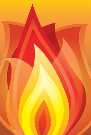 Abstract vector illustration of fire