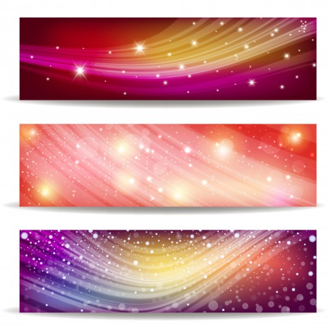 abstract wave and light banner background