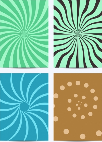 abstraction background templates twisted lines spots decoration