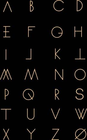 Alphabet Background Simple Flat Texts Capital Lettering Design
