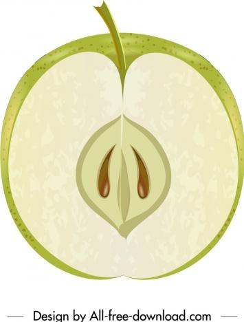 apple fruit background closeup vertical cut sketch