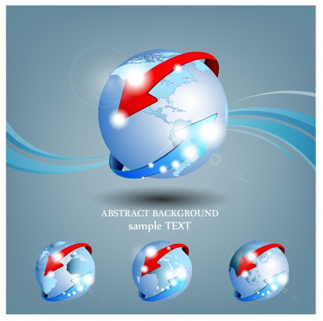 around world globe abstract background
