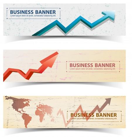 arrow up chart graph banner