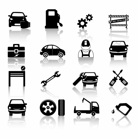 Car mechanic icon
