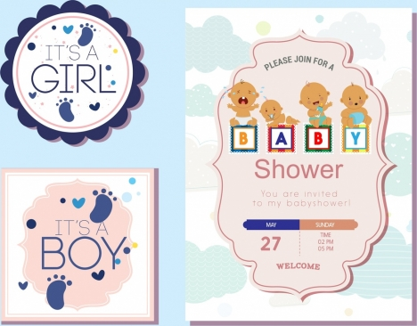 baby shower tags templates paper cut decor