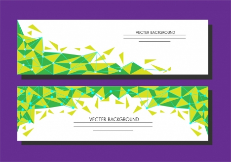 background vector geometric style in green and yellow