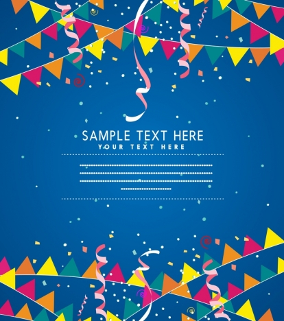 banner template eventful style colorful flag ribbon decor