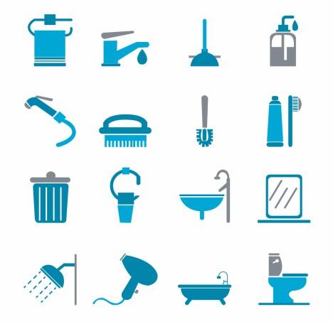 Bathroom Icons - Color