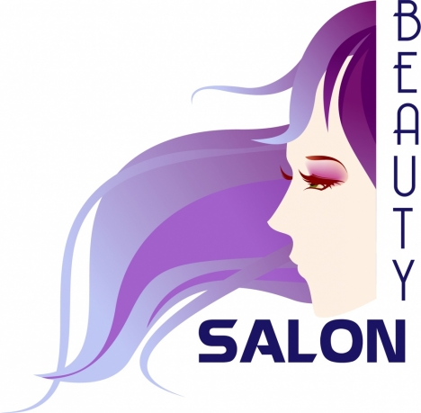 Beauty Salon Banner Colored Woman Icon Ornament Vectors Stock In Format For Free Download 1 70mb