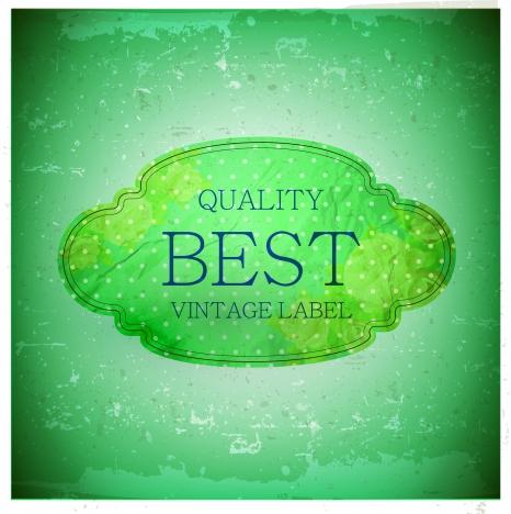 best quality vintage label